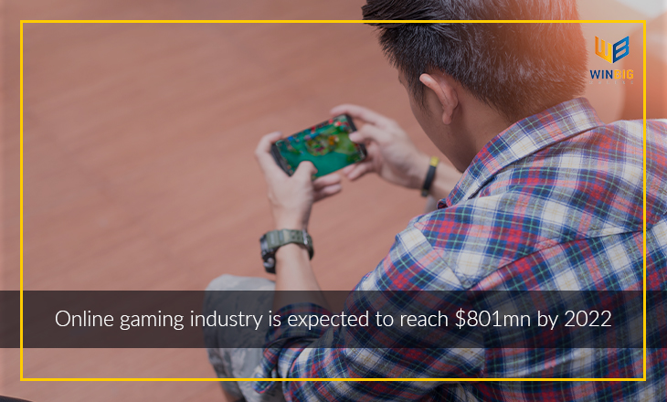 Online gaming industry is expected to reach $801mn by 2022